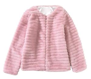 Chaqueta de pelo sintético en color rosa