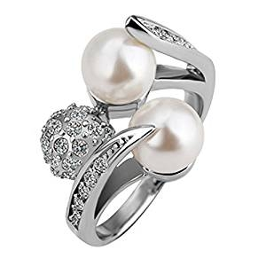 Anillo de perlas naturales