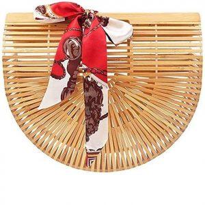 Bolso hecho a mano de bambú