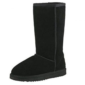 Botas de invierno mujer planas y de pierna alta