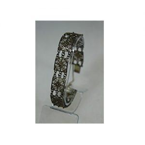 Brazalete de plata con estilo vintage