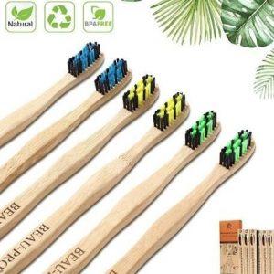 Cepillo de dientes de bambú de colores