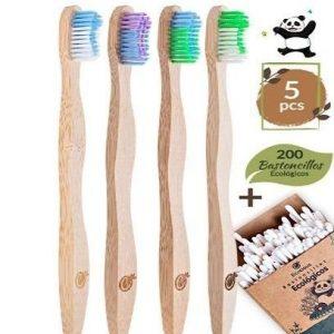 Cepillo de dientes de bambú ecológico