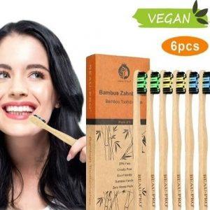 Cepillo de dientes de bambú sin BPA