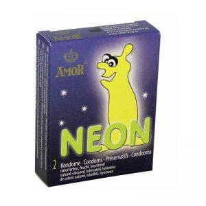 Condones fluorescentes Neón