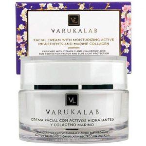 Crema antiarrugas para piel grasa con vitamina C y protección solar
