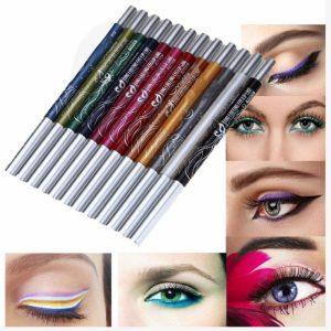 Delineador de ojos 12 colores brillo