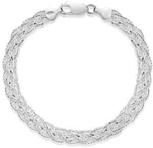 Elegante pulsera de plata de ley