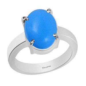 Espectacular anillo de plata de ley con turquesa