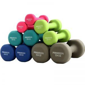 Kit de mancuernas para hacer fitness en casa de hierro fundido