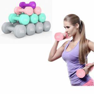 Kit de mancuernas para hacer fitness en casa seguras