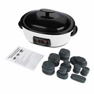 Kit de piedras calientes para masaje con calentador digital