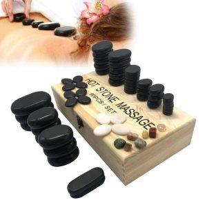 Kit de piedras calientes naturales para masaje