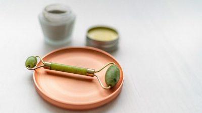 Rodillos faciales de jade