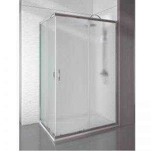 Mampara fija de ducha con suave apertura