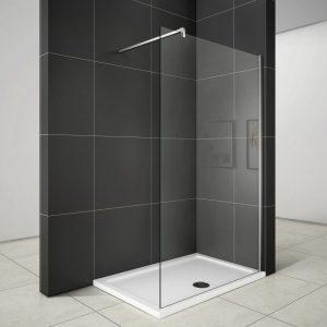 Mampara fija de ducha de cristal templado
