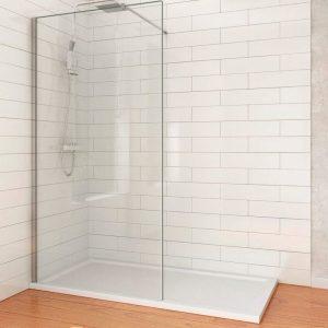 Mampara fija de ducha minimalista