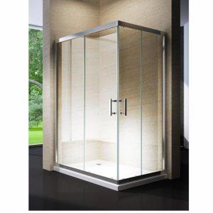 Mampara fija de ducha rectangular
