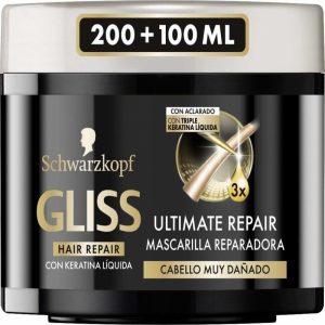 Mascarilla para el cabello Gliss con Triple Concentración de Queratina Liquida