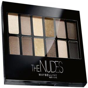 Paleta de sombras de ojos Maybelline The Nudes Palette