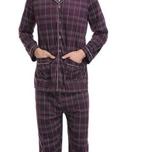 Pijama para hombre de invierno de algodón