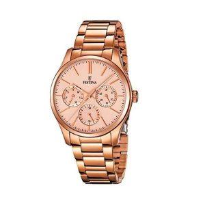 Reloj Festina de mujer de oro en acero inoxidable