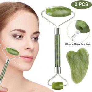 Rodillo facial de jade anti-envejecimiento