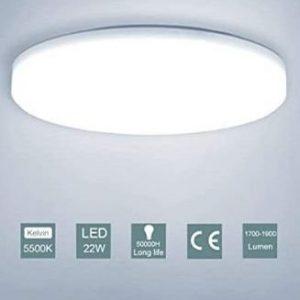 Tubo de LED circular para baño moderna Oowolf